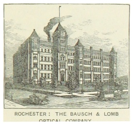 New York headquarters of the Bausch & Lomb Optical Company in 1891