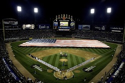 The National Anthem before Game 1 of the 2005 World Series