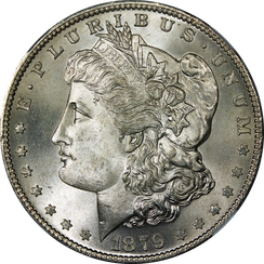 Randall sided with the majority of Democrats in authorizing silver dollars, such as this Morgan dollar, in 1878.
