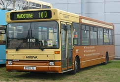 An Arriva Southern Counties bus in Maidstone Transport Centenary livery