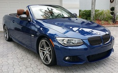 BMW 335is (E93) with roof lowered