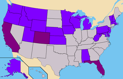 Purple - States where Barr had ballot access. (93 Electoral)Light Purple - States where Barr had Write-In access. (174 Confirmed)Total - 267 Electoral