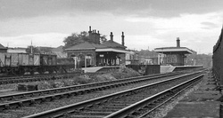 Broad Green station, Liverpool, England, shown in 1962, opened in 1830, is the oldest station site in the world still in use as a passenger station.