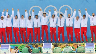 Serbia men's national water polo team held Olympic Games, World Championship, European Championship, World Cup and World League titles simultaneously in period from 2014 to 2016