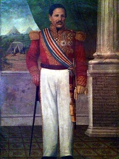 Captain General Rafael Carrera after being appointed President for Life in 1854.