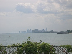 Chicago, as seen from the campus of Northwestern University in Evanston.