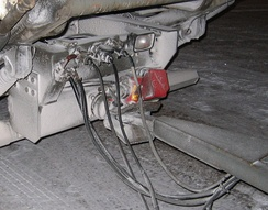 Trailer-hitch on a large vehicle
