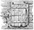 This door hinges on the stile and is called a haar-hung door.