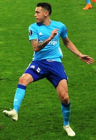 Ocampos playing for Marseille in 2018