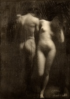 Adam and Eve by Frank Eugene, taken 1898, published in Camera Work no. 30, 1910