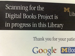 Notice about the project at Michigan University Library