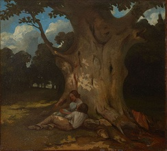 The Big Oak, by Gustave Courbet (1843).
