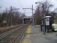 Great Notch Station looking towards Hackettstown prior to closure