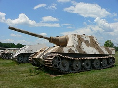 A Jagdtiger, an example of a casemate armoured vehicle.