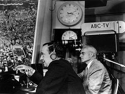John Daly and Quincy Howe providing ABC's coverage of the convention