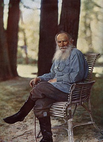 Leo Tolstoy, influential christian anarchist and anarcho pacifist theorist