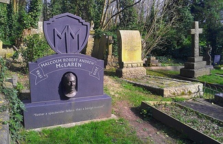 McLaren's grave in the eastern part of Highgate Cemetery