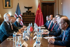 Lighthizer meets with Chinese Vice Premier Liu He for the trade with China in January 2019