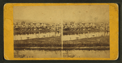 Stereoscopic view of Minneapolis by Benjamin Franklin Upton