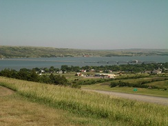 The Missouri River viewed from a rest stop off I-90 just south of Chamberlain, South Dakota