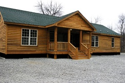 A modern North American log style prefabricated house