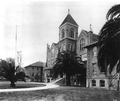 "The first true library was housed in the College of Liberal Arts Building (""Old College""), which opened in 1887 and was designed to hold the entire USC College student body—55 students. Two wings were added to the original building in 1905."