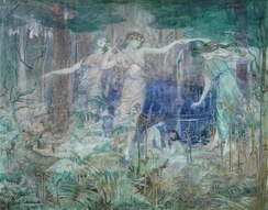 Pan! Pan! O Pan! Bring Back thy Reign Again Upon the Earth, 1914 by Olive Leared