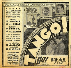 Ad for the film ¡Tango! (1933)