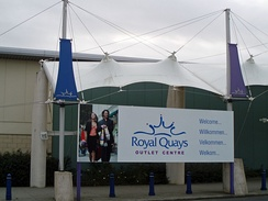 Royal Quays Retail Park, an outlet shopping centre located at North Shields