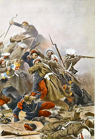 Russo-French skirmish during the Crimean War