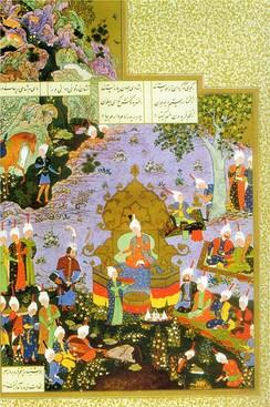 A scene from the Shahnameh describing the valour of Rustam