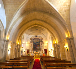 Nave with true Gothic quadripartite vault at St. Catherine's Old Church.[18]