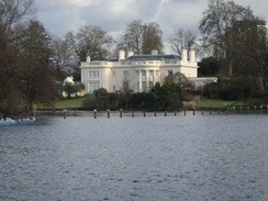 The Burton family mansion, The Holme in Regent's Park, which was built by the company of James Burton to a design by Decimus Burton. It has been described as 'one of the most desirable private homes in London' by architectural scholar Guy Williams, and 'a definition of Western civilization in a single view' by architectural critic Ian Nairn