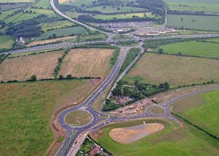 Thickthorn Interchange between the A47 and A11.