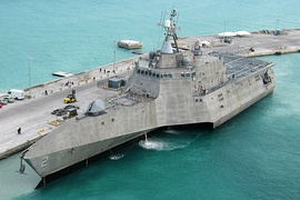 USS Independence (LCS-2), a littoral combat ship from General Dynamics and Austal and the lead ship of her class