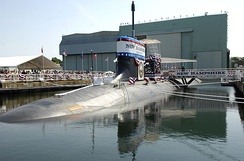USS New Hampshire (SSN-778), a Virginia-class submarine.