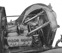 V8 Vulcan engine, about 1919