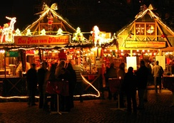 A Christmas market in Dresden