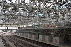 Refurbishment of the train shed roof in 2016