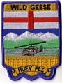 408 Tactical Helicopter Squadron UTTH Flight badge worn by CH-135 Twin Huey crews circa 1990. The badge is based on the shield of the province of Alberta.