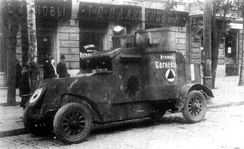 A Russian armoured car, 1919