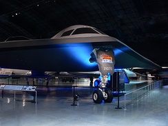 Restored B-2 Spirit full-scale test unit on display at the National Museum of the United States Air Force