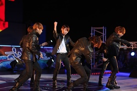Beast performing at the Expo 2012 in Yeosu