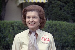 Betty Ford showing her support publicly for the Equal Rights Amendment