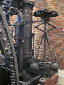 Centrifugal governor in the Boulton & Watt engine 1788 Lap Engine.