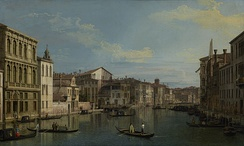 The Grand Canal in Venice from Palazzo Flangini to Campo San Marcuola, Canaletto, circa 1738, J. Paul Getty Museum