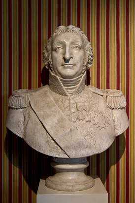 Bust of Charles Pierre François Augereau at the Chateau de Chambord