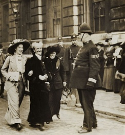 Charlotte Despard, Edith How Martyn and Emma Sproson in about 1914