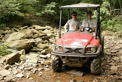 Club Car's XRT1550 4x4 personal utility vehicle (UTV).