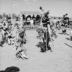 Dancers at Crow Fair in 1941